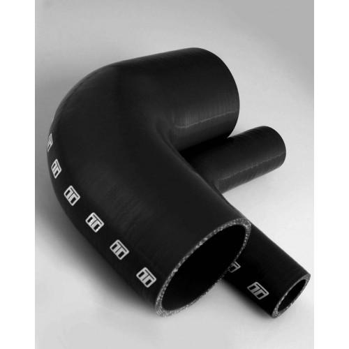 Silicone 63mm 90deg bend - Black
